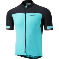 Madison RoadRace Premio men's short sleeve jersey, blue curaco / black