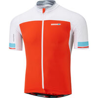 Madison RoadRace Premio men's short sleeve jersey, chilli red / white