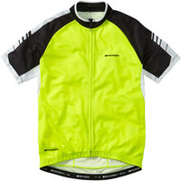 Madison Peloton men's short sleeve jersey, hi-viz yellow