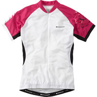 Madison Keirin women's short sleeve jersey, white / very berry