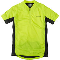 Madison Trail youth short sleeved jersey, hi-viz yellow