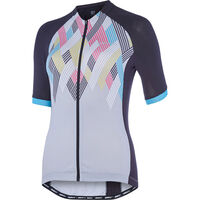 Madison Sportive women's short sleeve jersey, black/silver grey crosshatch