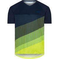 Madison Zenith men's short sleeve jersey, ink navy / lime punch