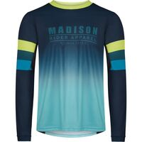 Madison Alpine men's long sleeve jersey, ink navy / lime punch
