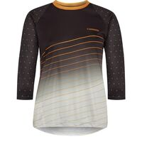 Madison Flux Enduro women's 3/4 sleeve jersey, phantom / golden syrup