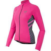 Pearl Izumi Women's, Select Pursuit Thermal Jersey, Screaming Pink Stripe