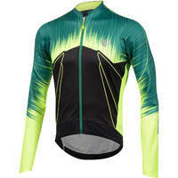 Pearl Izumi Men's P.R.O. Pursuit Wind Thermal Jersey P.R.O. Pepper Green